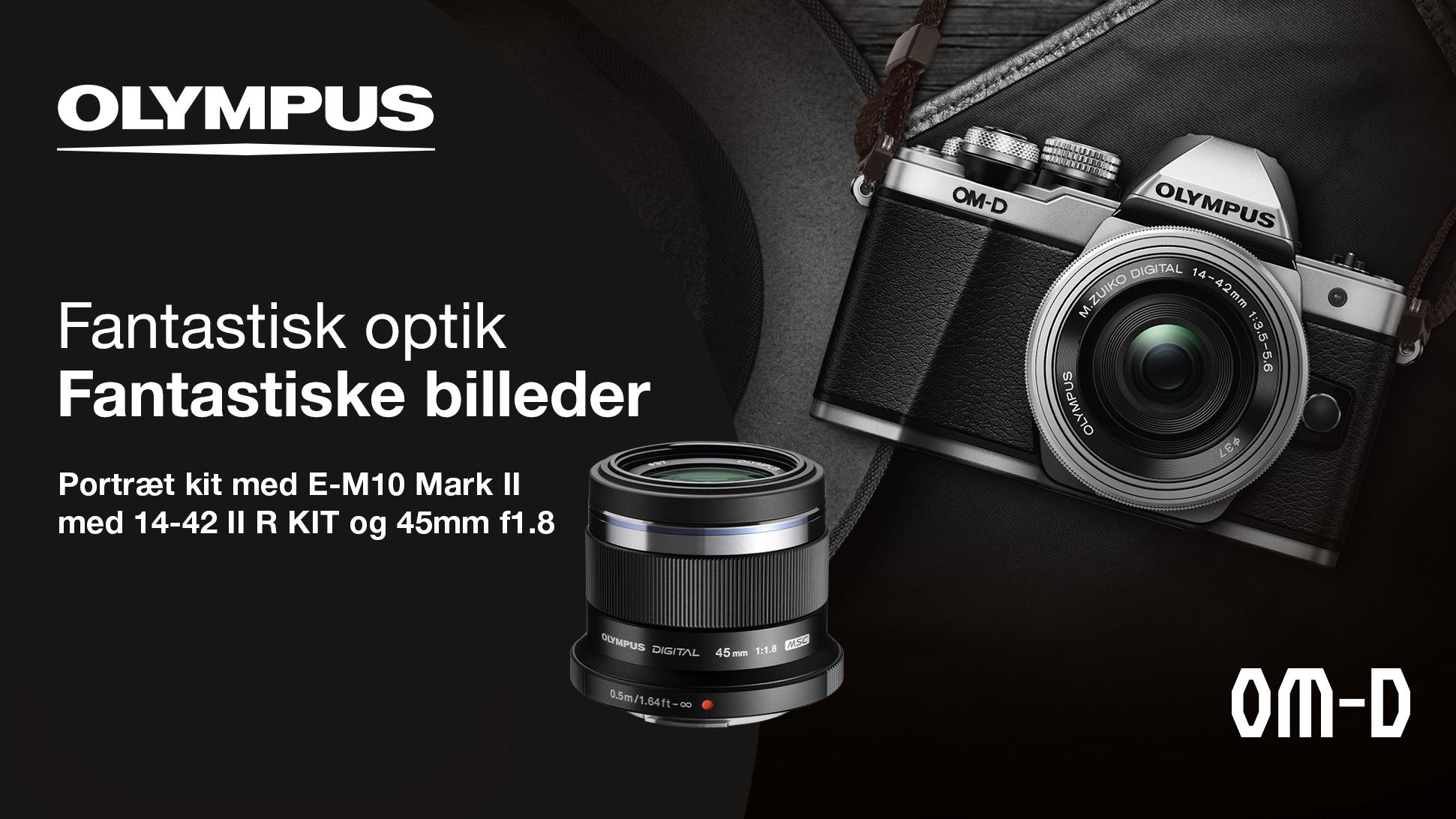Olympus E-M10 mark II Portræt kit kampagne