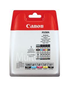 CANON CLI-580/581 BK/C/M/Y/BK MULTIPAKKE