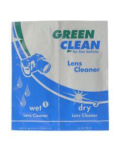 GREEN CLEAN Pudseklud Objektiv LC-7010 Våd/Tør Blister 10 pak