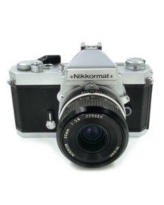 Brugt Nikkormat FT2 Chrome m/35mm f/2,8