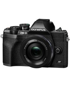 Olympus E-M10 Mark IV (4) m/14-42mm EZ Sort (Cashback 550 kr.)