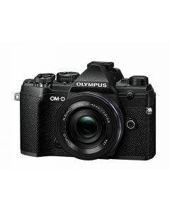 Olympus E-M5 Mark III m/14-42mm EZ Sort/Sort (25mm f/1.8 og ECG-5 greb fra Olympus)