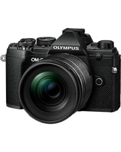 Olympus E-M5 Mark III m/12-45mm Pro Sort (Cashback 1100 kr)
