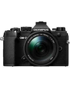 OLYMPUS OM-D E-M5 MARK III m/14-150mm Sort/Sort (25mm f/1.8 og ECG-5 greb fra Olympus)