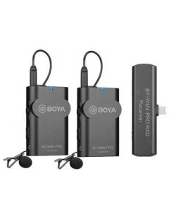BOYA Mikrofon BY-WM4 Pro K4 Lavalier x2 Trådløs Lightning