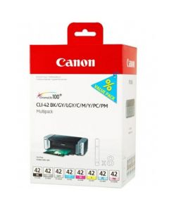 CANON CLI-42 BK/GY/LGY/C/M/Y/PC/PM MULTIPAKKE