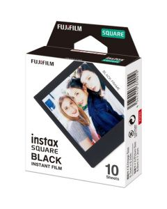 FUJIFILM INSTAX FILM SQUARE 1X10 BILLEDER Sort kant