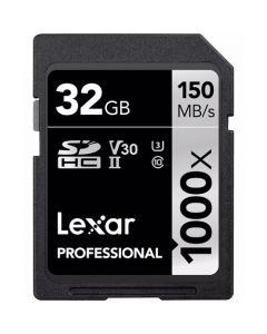 LEXAR 32GB SDHC 150MB/S PROF 1000X UHS-II