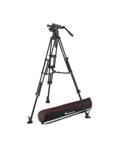 MANFROTTO Stativkit Video Nitrotech 612 + Alu Twin MS Midterspreder