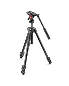 MANFROTTO 290 Stativkit Video Light + 400AH hoved