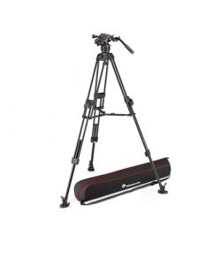 MANFROTTO Stativkit Video Nitrotech 608 + 645 Fast Twin MS Aluminium