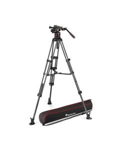 MANFROTTO Stativkit Video Nitrotech 612 + CF Twin MS Midterspreder