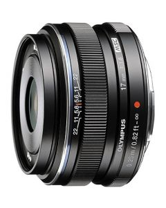 OLYMPUS M. ZUIKO DIGITAL 17MM F/1.8 SORT Cashback 550,-