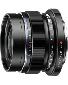 OLYMPUS M. ZUIKO DIGITAL 12MM F/2 SORT Cashback 550,-