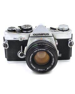 Brugt Olympus OM-2n Chrome m/50mm f/1,8